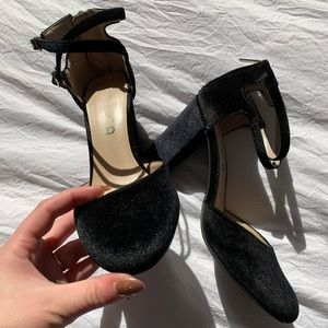 UNISA Womens Closed Toed Heels with Ankle Straps